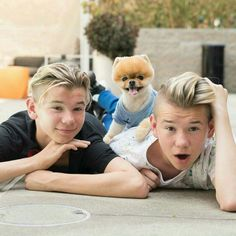 Marcus and Martinus + Jiffpom Cute 13 Year Old Boys, Cute Boys, Marcus Y Martinus, Most Instagram Followers, Jiff Pom, Dream Boyfriend, Dog Training Techniques, Love U Forever, Cutest Dog Ever