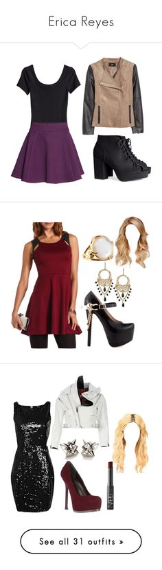"""""""Erica Reyes"""" by erikaemery ❤ liked on Polyvore featuring H&M, Charlotte Russe, ZiGiny, Stephen Webster, Lauren Ralph Lauren, Undercover, Boohoo, Henri Bendel, Yves Saint Laurent and NARS Cosmetics"""