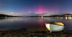 Southern lights as seen from Howden Tasmania.