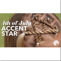 JEhat 4th of July Accent Star Hairstyle
