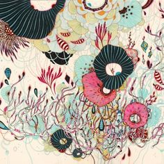 Original drawing by Yellena James; Portland, OR Illustration Pen And Ink, Botanical Illustration, Maze Drawing, Painting & Drawing, Yellena James, Beautiful Paintings, Creative Inspiration, New Art, Flower Art