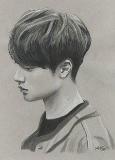 Thoughtful Kyungsoo by FallThruStardust on deviantART