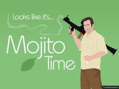 Mojito Time, my fave mojito guy, Sam Axe, from Burn Notice.