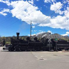 The Durango & Silverton Narrow Gauge train takes passengers through breathtaking scenery on the way to Silverton, Colorado
