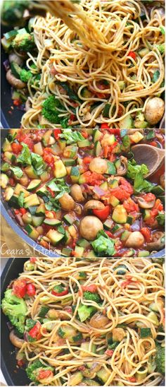 A bright + vibrant Healthy Vegan Pasta Primavera that comes together quickly + easily. Full of family favorite vegetables like broccoli and zucchini. Veggie Recipes, Whole Food Recipes, Vegetarian Recipes, Cooking Recipes, Healthy Recipes, Easy Recipes, Vegan Foods, Vegan Dishes, Quotes Vegan