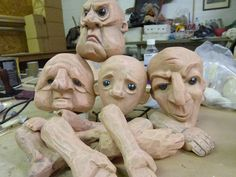 Puppet heads hands and feet by Russell Dean