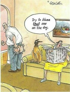 Try to blame that one on the dog. Ha!