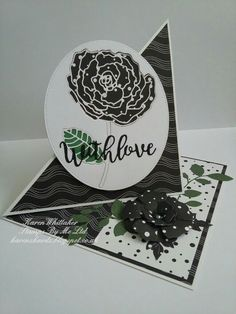 Flower and sentiment dies from Stamps By Me  #stampsbyme #dtsample #buildaflower #buildaflourish #detailedflower #die #flowers #monochrome #easelcard #cardmaking #cards #handmade #craft #creative #ilovetocraft