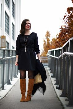 How to wear a black dress for the holidays and still look festive!