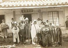 북청군 [北靑郡],  Recreation group, Korea, 1936  북청사자놀이패 Photographer Unidentified