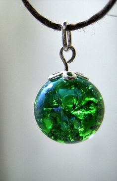 Variation to remember....How to Make a Fried Marble Necklace: