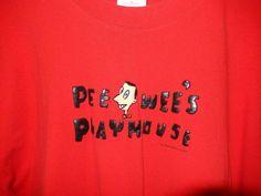 Vintage Pee Wee's Playhouse T-shirt Herman World Red Black XL circa 2000 Cotton #Gildan #BasicTee