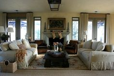 """A living room where friends (and sisters) would feel """"at home""""."""