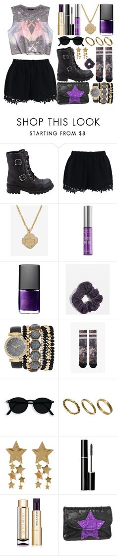 """""""give me a boost"""" by magic-and-boredom ❤ liked on Polyvore featuring Forever 21, Bongo, Chicwish, Urban Decay, NARS Cosmetics, Topshop, Jessica Carlyle, Stance, Made and SUQQU"""