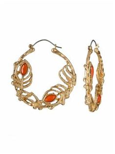 Love the gold and coral.