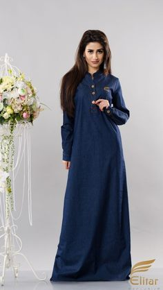 Jeans Dress from Elitar. Great solution for casual wear. Fabric: Jeans Colour: Navy blue Size: S, M, L, XL, Bridesmaid Dresses, Wedding Dresses, Navy Blue Dresses, Jeans Dress, Colored Jeans, Casual Wear, Fabric, How To Wear, Fashion