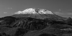 Mount Saint Helens, Washington, 2007 | Click the picture above for information on purchasing a fine art photography wall print. | #blackandwhite #landscape #mountains