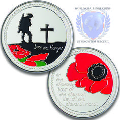 Remembrance day challenge coins www.worldchallengecoins.co.uk