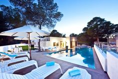 Just 100m from the beach, this 6-bedroom villa with stunning views is as fresh and glamorous as Ibiza's west coast