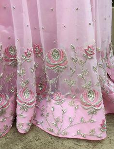 Embroidery Suits Punjabi, Zardosi Embroidery, Embroidery Suits Design, Hand Embroidery Flowers, Hand Work Embroidery, Embroidery Fashion, Hand Embroidery Designs, Beaded Embroidery, Hand Work Design