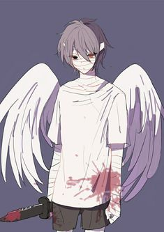 Angel of Slaughter 殺戮の天使 (Massacre Angel) (Satsuriku no Tenshi) 君が笑うまで Angels of Death Fanart Zack (Isac Foster) Anime Ai, Anime Angel, Anime Kawaii, Manga Anime, Angel Of Death, Angel And Devil, I Love Anime, Hot Anime Boy, Anime Boys