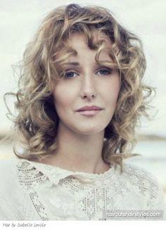 Flirty Medium Curly Hair