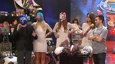 """En el juego de la negociación, Guido Kaczka tuvo la chance de batallar por un par de máscaras de """"lucha libre"""" mexicana. El conductor recordó los tiempos de """"Titanes en el ring"""" e invitó a sus azafatas a """"pelear""""."""