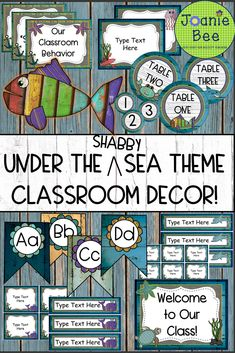 Turtle Classroom, 5th Grade Classroom, New Classroom, Classroom Resources, Teacher Resources, Classroom Decor Themes, Classroom Ideas, Ocean Underwater, Chicka Chicka