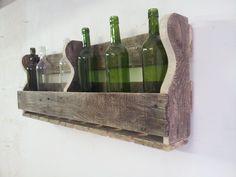Groot wijnrek van gerecycled pallethout. Bestel hem op www.alshetmaarvanhoutis.nl