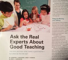 Ask Professor Kid. Read what middle school kids say about effective teachers.