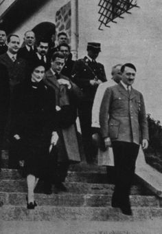 The Duke and Duchess of Windsor leaving with Hitler after their visit to Obersalzberg. They were Nazi sympathizers, and our world might be radically different if the Duke of Windsor had remained King of England. Secret Space Program, German Soldiers Ww2, The Third Reich, British Monarchy, Duke And Duchess, World War Two, Historical Photos, Wwii, The Past