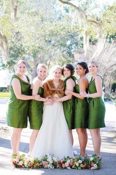 Nature Inspired Pink Peach Green Florida Wedding