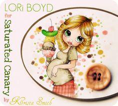 Love the polka dots. Card by Lori Boyd.
