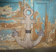 Weathered Wooden Anchor