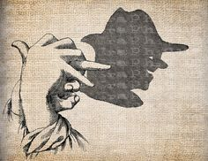 Hand Shadow Vintage Illustration