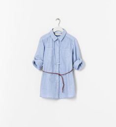BELTED SHIRT from Zara