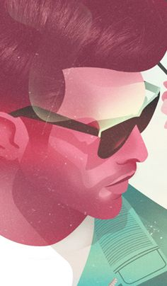 Jack Hughes Illustration  Love the color and style