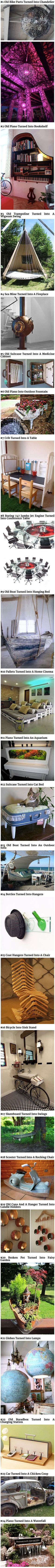 Here are some cool and creative ways geeks have repurposed everyday things. Like the piano fountain/aquarium, the cat bed, or the fairy garden. SO SHUT UP AND TAKE MY MONEY! My New Room, My Room, Choses Cool, Cool Inventions, Future Inventions, Style Deco, Take My Money, My Dream Home, Life Hacks