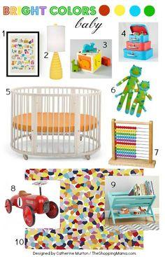 Bright Colors Gender Neutral Nursery