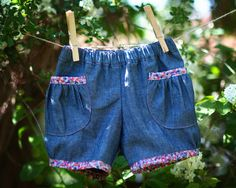 These Oliver + S Puppet Show Shorts are the other two items I made for KCWC. I made this pattern three times last summer and loved them. Sewing For Kids, Sewing Ideas, Sewing Patterns, Puppet Show, Kids Wear, Patterned Shorts, Couture, Puppets, Chambray