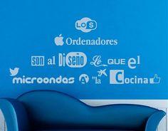 """#Vinilodecorativo #frase sobre #diseñográfico  """"Los ordenadores son al diseño lo que el microondas a la cocina"""" 04517"""