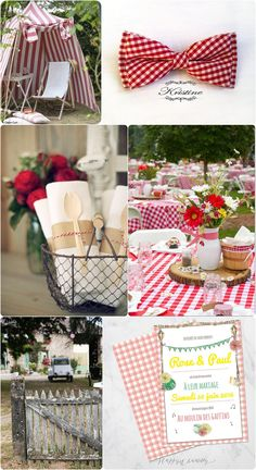 "Aujourd'hui je vous propose des inspirations de mariage guinguette vintage. Furieusement tendance, le mariage guinguette avec son ambiance champêtre et décontractée! Today I propose some country ""guinguette"" wedding vintage inspirations. Furiously trendy, the guinguette country wedding style with its rustic and relaxed atmosphere !"
