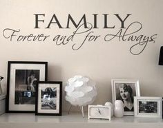 Family Forever And For Always wall art decal vinyl lettering home decor sticker