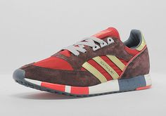 adidas Originals Boston Super – University Red – Metallic Gold