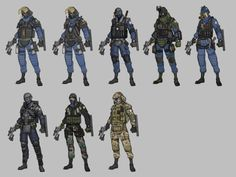 ArtStation - special force character concept (GIGN), Sung-wook Kang