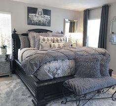 Bedroom Sets - Furniture Buying And Taking Care Of Your Home Furnishings Gray Bedroom, Bedroom Sets, Home Decor Bedroom, Modern Bedroom, Bedroom Furniture, Master Bedroom, King Furniture, Large Bedroom, Furniture Plans