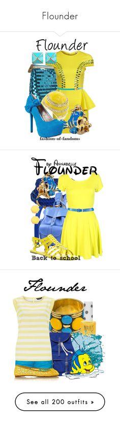 """Flounder"" by laurapowalisz ❤ liked on Polyvore featuring Stephanie Johnson, Fairground, Maison Boinet, Fantasy Jewelry Box, Disney, Kate Spade, the little mermaid, flounder, disney and disney fashion"
