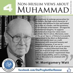 Montgomery - Non Muslim views about Islam, prophet Muhammad (pbuh) Islamic Inspirational Quotes, Religious Quotes, Islamic Quotes, Arabic Quotes, Islam Muslim, Islam Quran, Muslim Beliefs, Allah Islam, Hadith