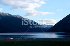 Dusk on Lake Rotoiti, Nelson Lakes National Park, NZ Royalty Free Stock Photo