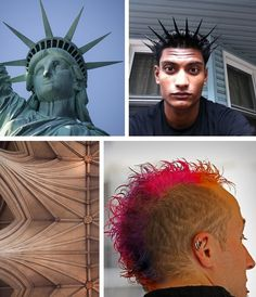 #Architecture and #hairstyles   Arkkitehtuuri ja hiukset  #libertyspikes #statueofliberty